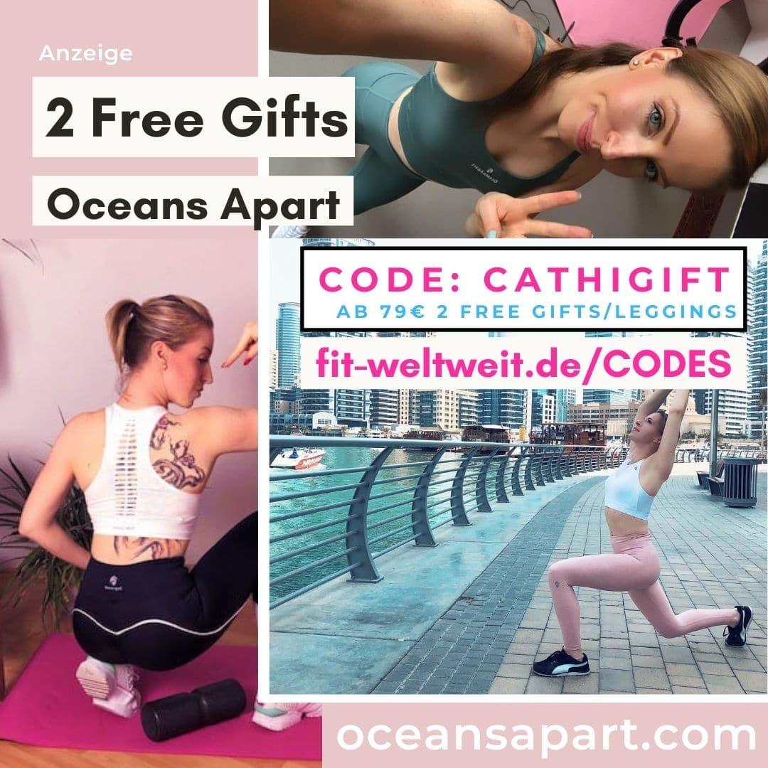 Oceans Apart Code 50% Rabatt 2 free Gifts Pants gratis Leggings 2021