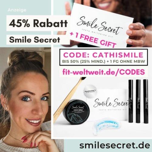 Smile Secret Code 2021 Februar 50% Rabatt Gutschein 45% Rabatt + Free Gift