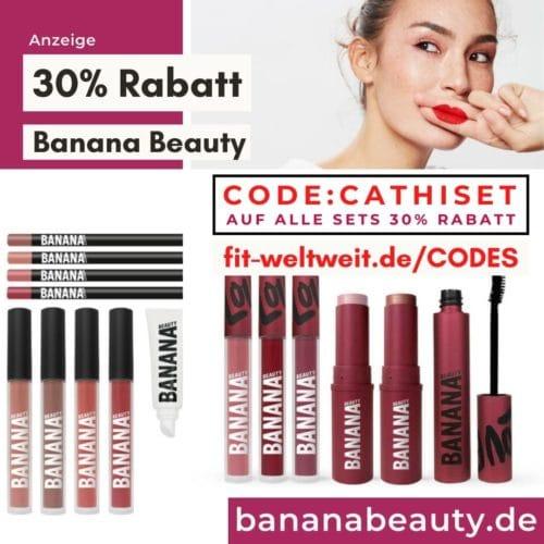 Banana Beauty Code 25% Rabattcode Februar 2021 30% Gutscheincode