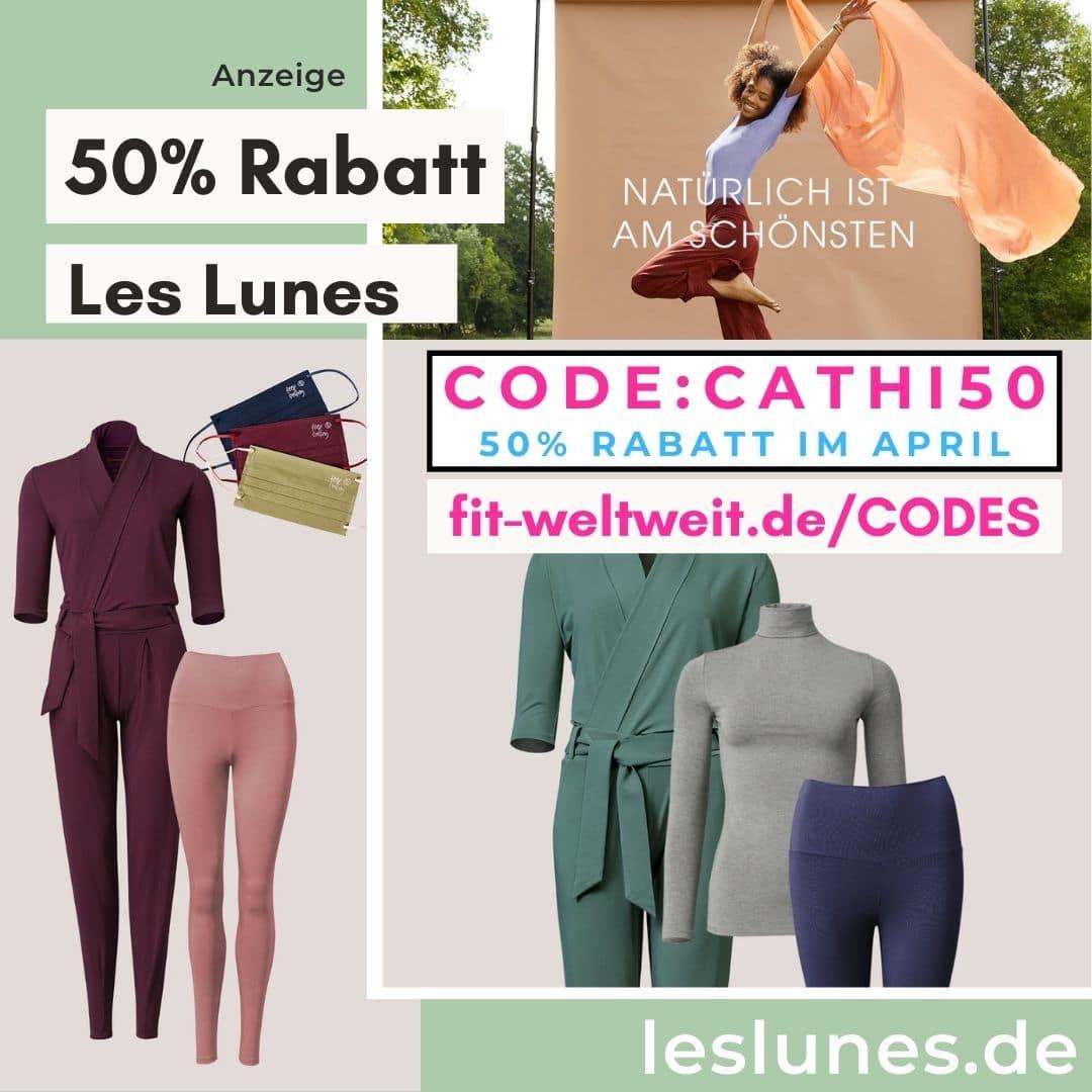Flashsale 50% Rabatt bei Les Lunes Gutscheincode April 2021