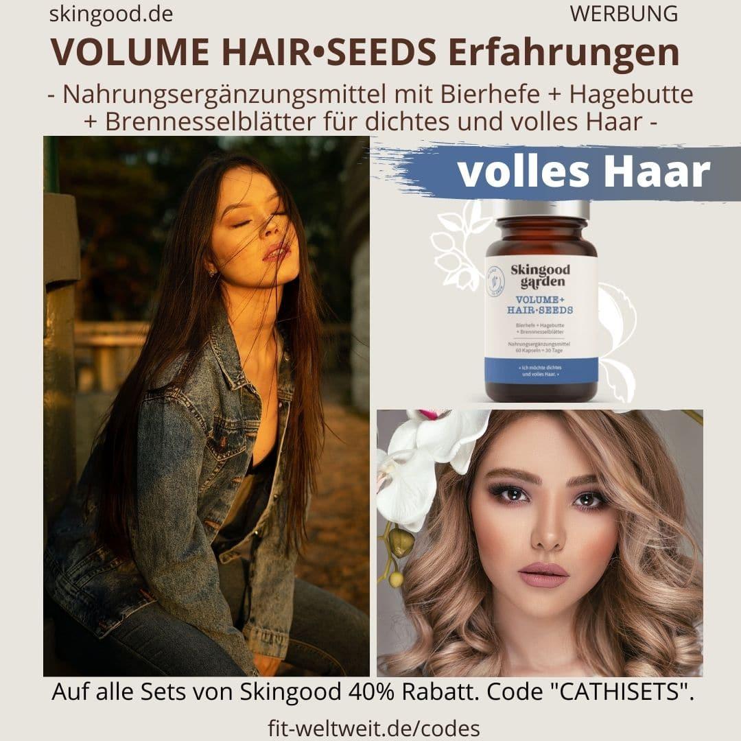 Haar Kapseln Skingood Garden VOLUME HAIR SEEDS Erfahrungen Bewertung