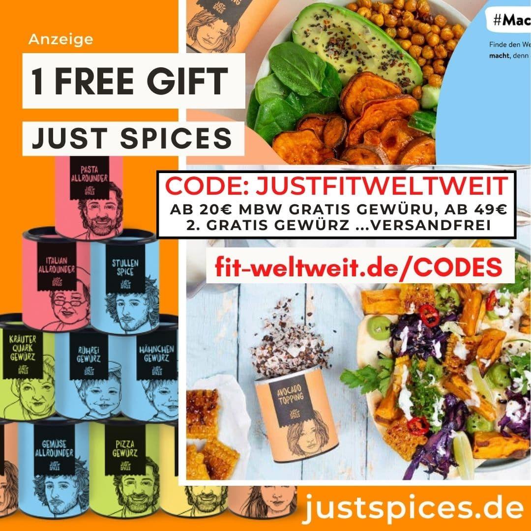 Just Spices Code 2021 Rabattcode April 2 gratis Gewürze