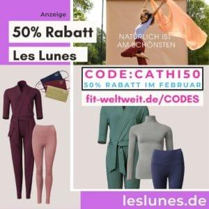 LES LUNES CODE 50% RABATT Februar 2021 CATHI50 Gutscheincode 60% gesamt bei Sets