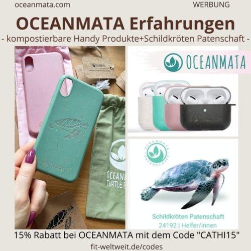 OCEANMATA Erfahrungen recycelte kompostierbare Handyhüllen TURTLE biologisch abbaubar nachhaltig Schildkrötenpatenschaft