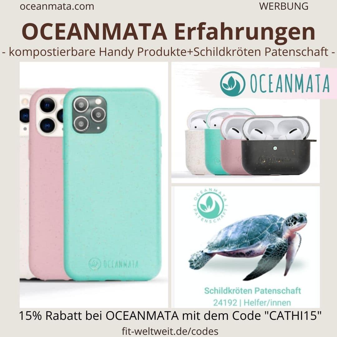 OCEANMATA Erfahrungen recycelte kompostierbare Handyhüllen biologisch abbaubar nachhaltig Schildkrötenpatenschaft