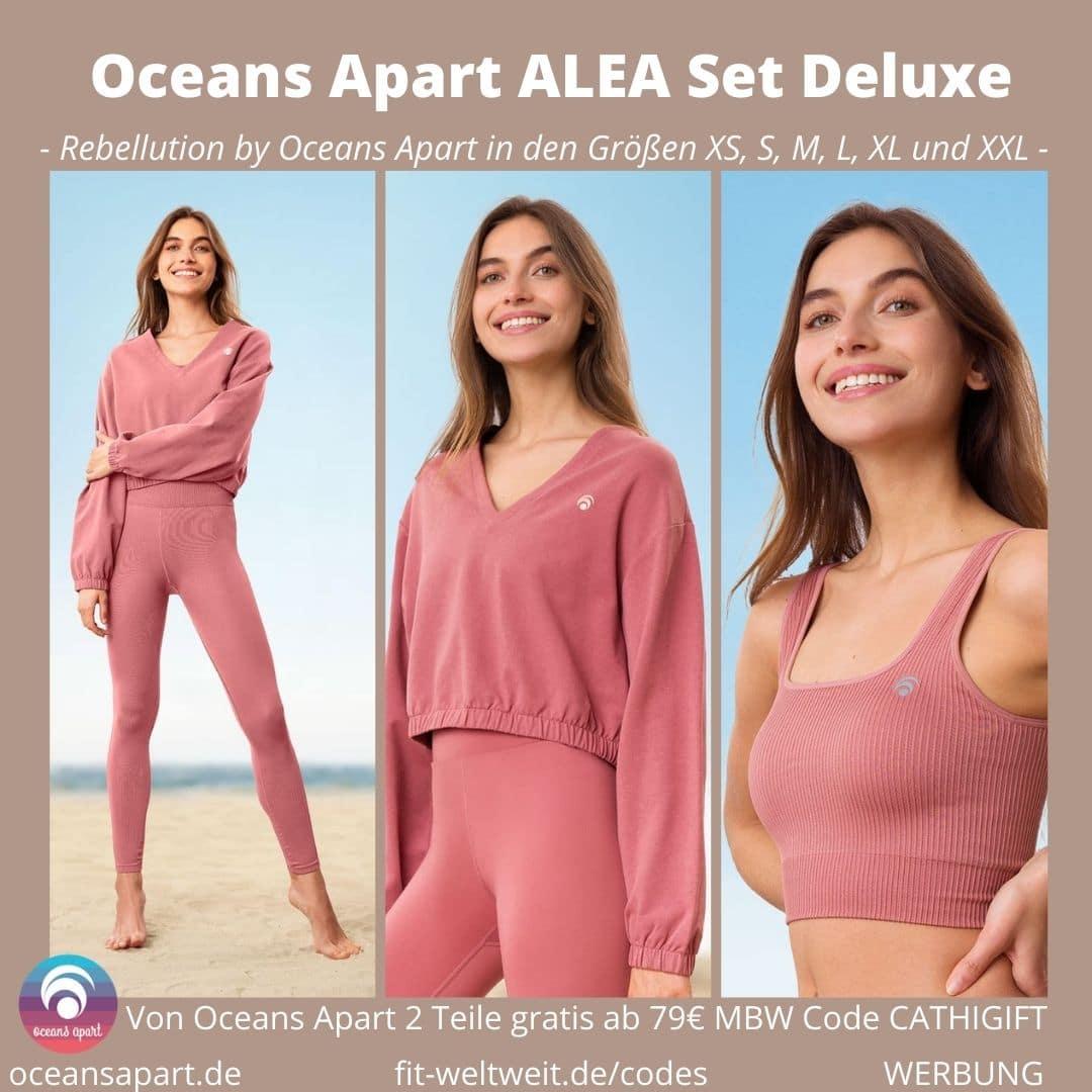 Oceans Apart ALEA Set Deluxe Erfahrungen Leggings Pant Bra Sweater Bewertung Größe Stoff