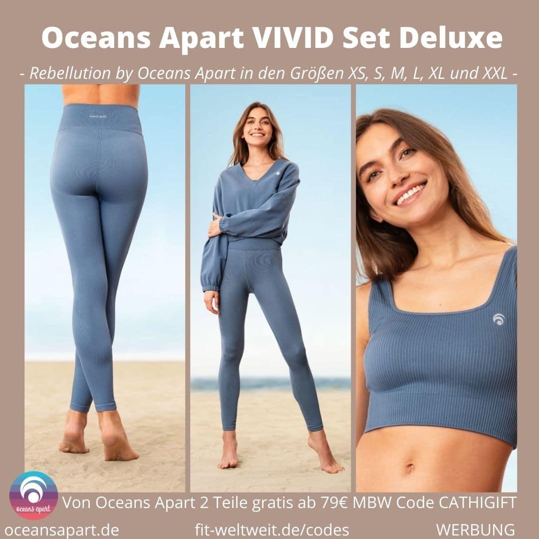 Oceans Apart VIVID Set Deluxe Erfahrungen Pant Leggings Bra Sweater Bewertung Größe Stoff