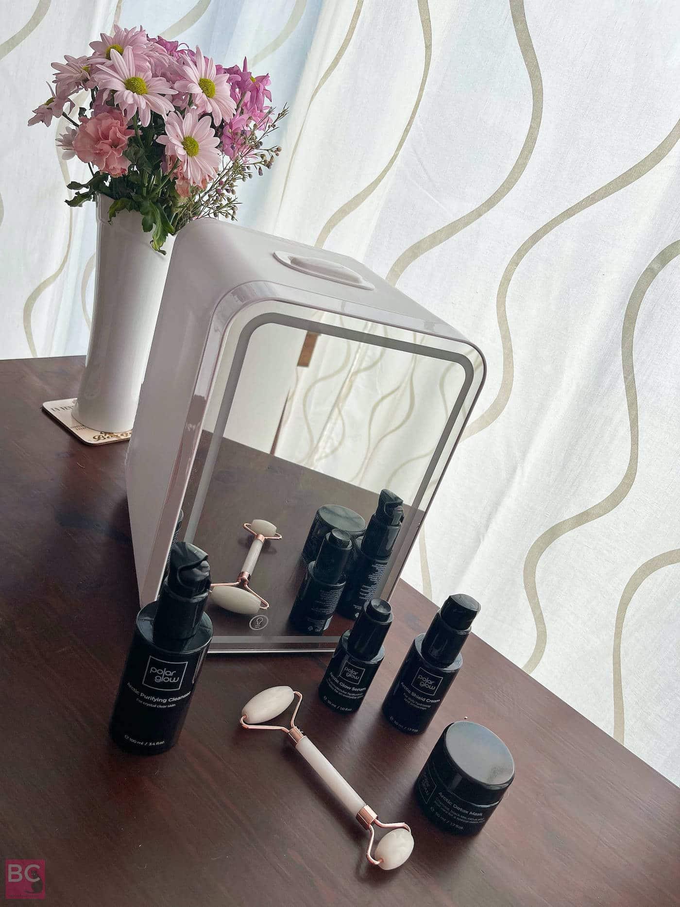POLARGLOW GLOWBOX BOX Kühlschrank Arctic Skincare Linie Beauty Roller