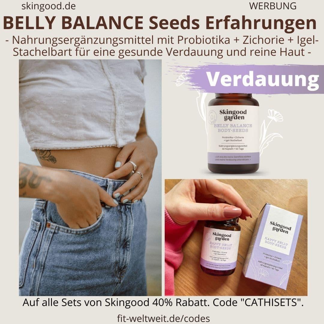 """BELLY BALANCE BODY SEEDS - gesunde Verdauung & reine Haut >> Übersetzung:Bauch Ausgleich Körper Samen """"Ich möchte meine Darmflora stärken und meine Verdauung unterstützen."""""""