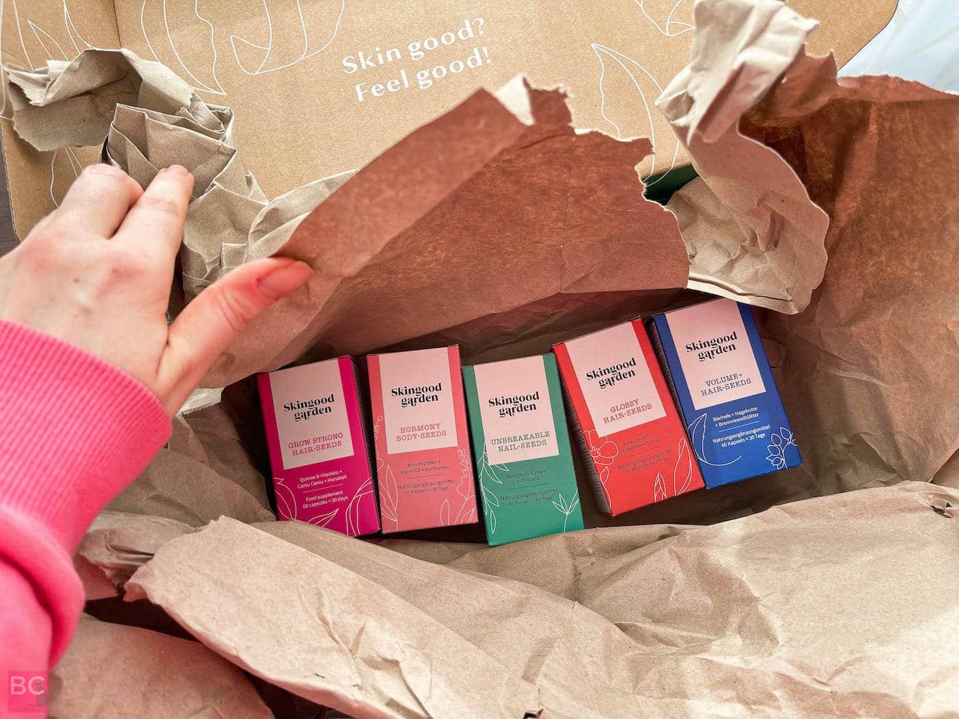 Skingood Garden Erfahrungen Skin Body Hair Nail Seeds Kapseln Karton Verpackung