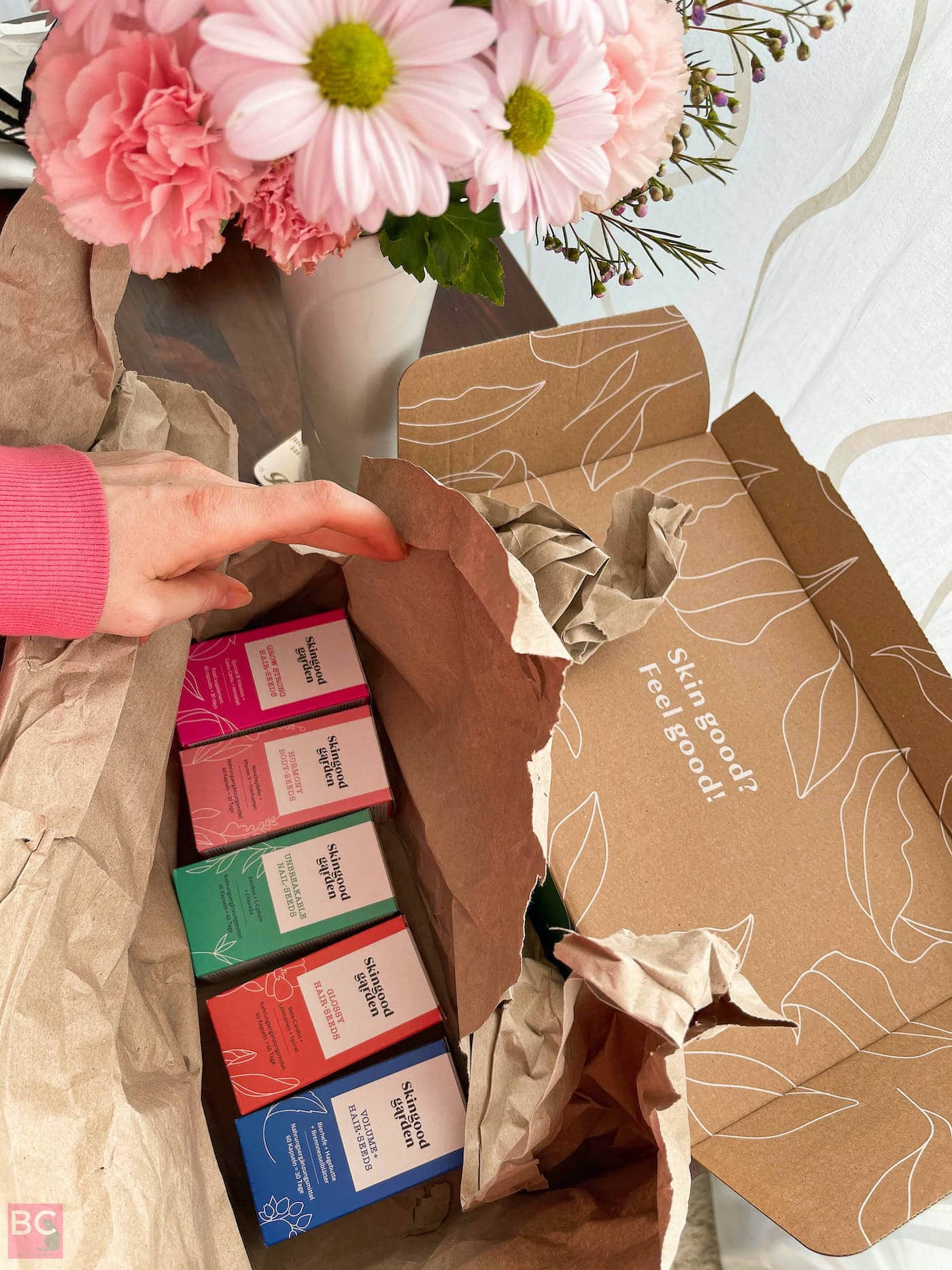 Skingood Garden Erfahrungen Verpackung und Versand Versandmaterial Karton innen