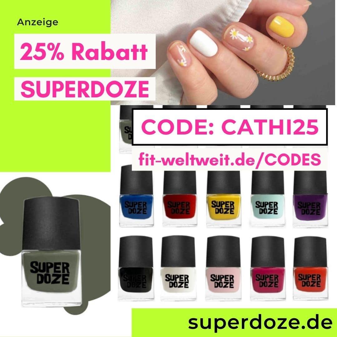 25% Rabatt SUPERDOZE Code bunter Nagellack