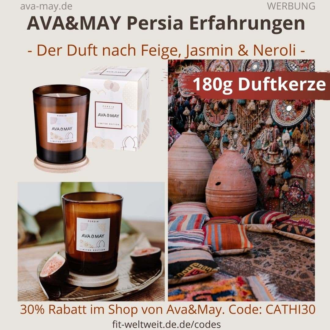 AVA & MAY Persia 180g Duftkerze Limited Edition
