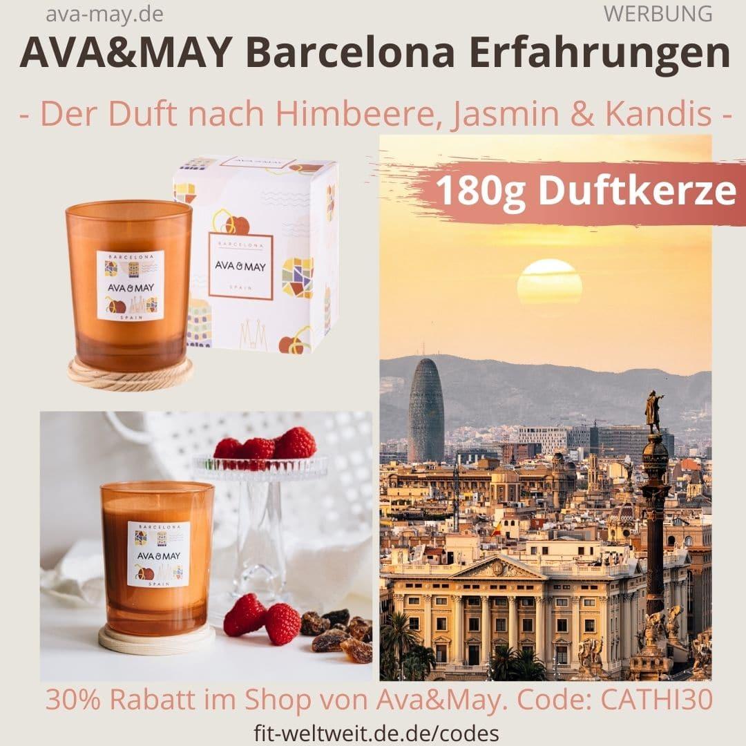AVA and MAY Barcelona 180g Duftkerze Spain