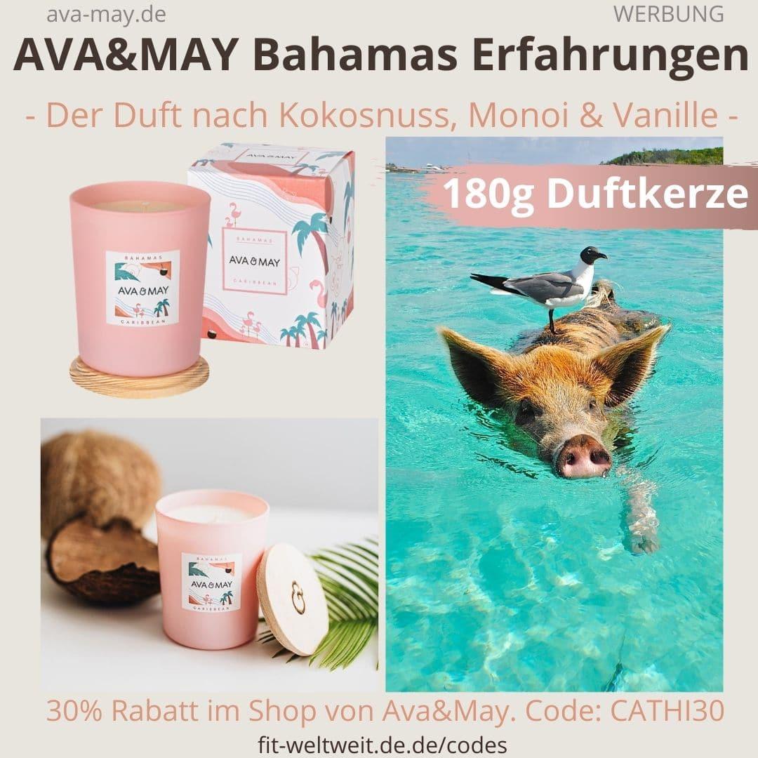 And May Duftkerze BAHAMAS AVA & MAY