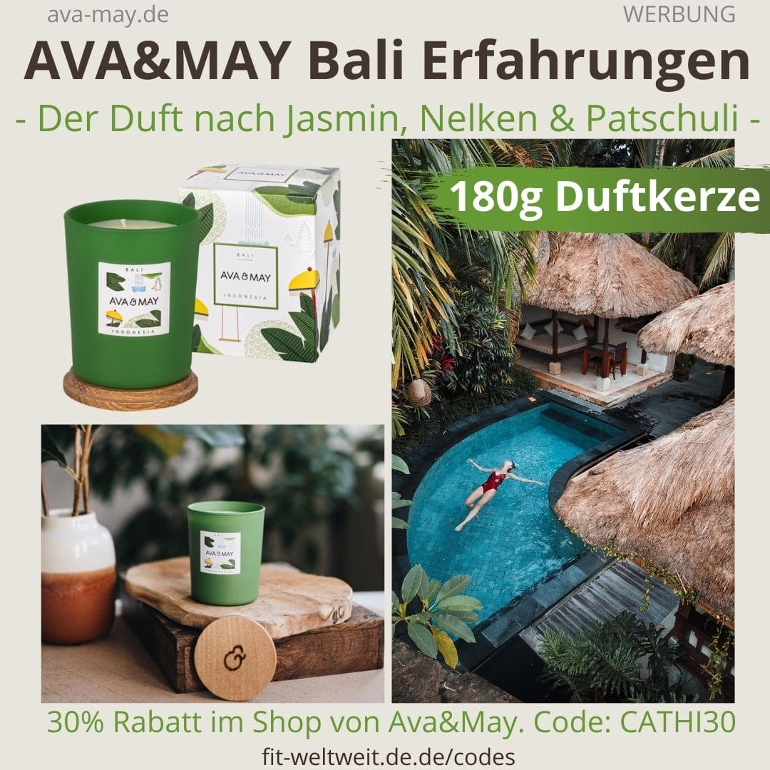 AVA and MAY Bali 180g Duftkerze Indonesia