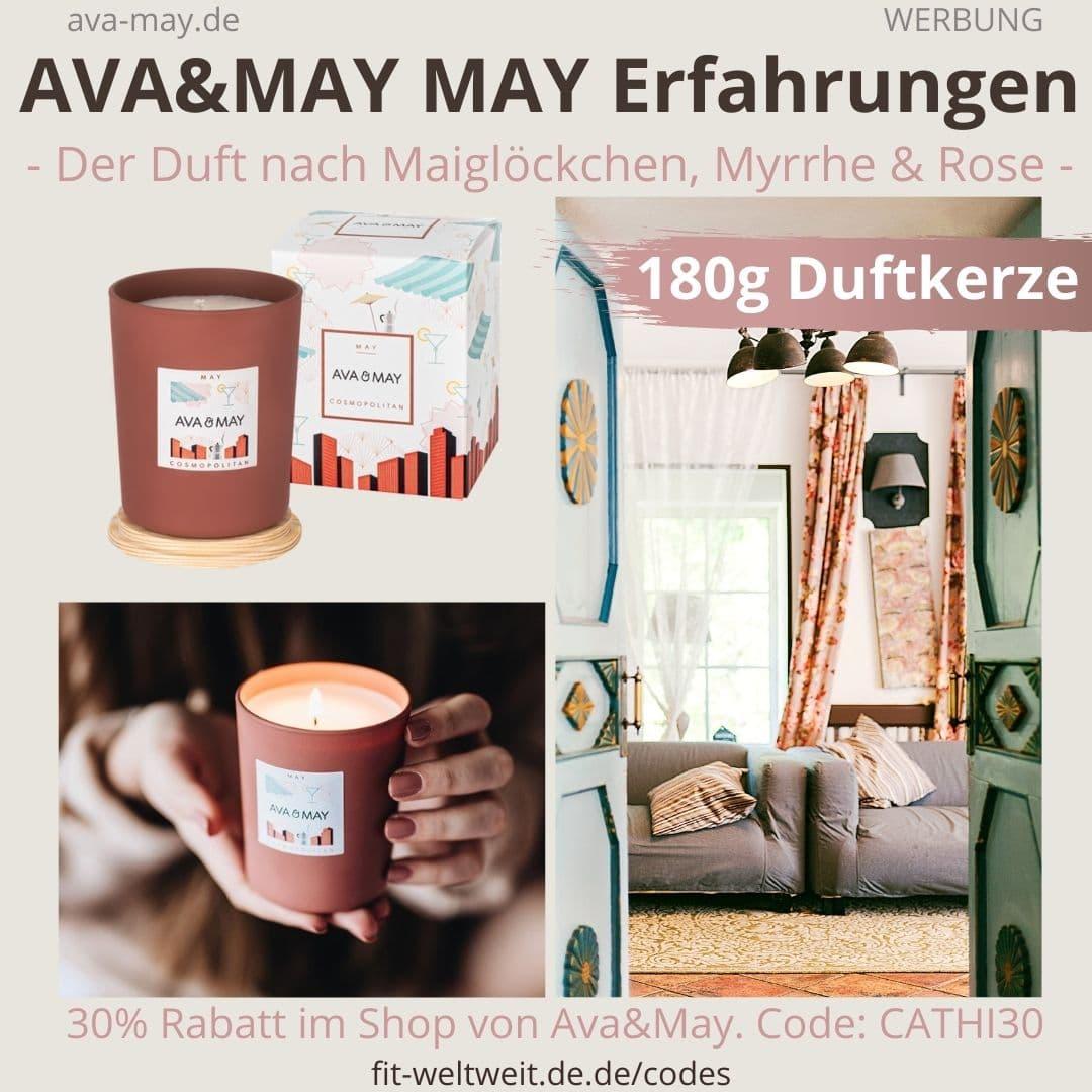 Erfahrung AVA and MAY MAY 180g Duftkerze Cosmopolitan