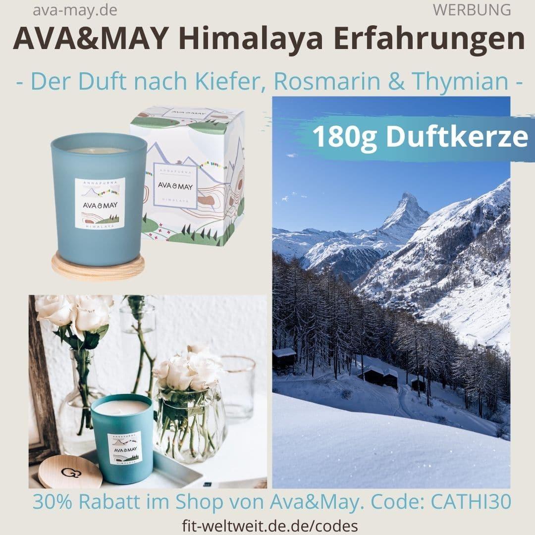 AVA and MAY Himalaya 180g Duftkerze Annapurna