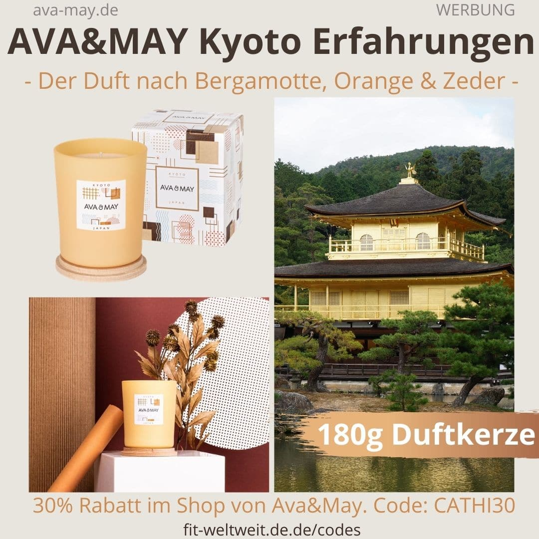 AVA and MAY Kyoto 180g Duftkerze Japan