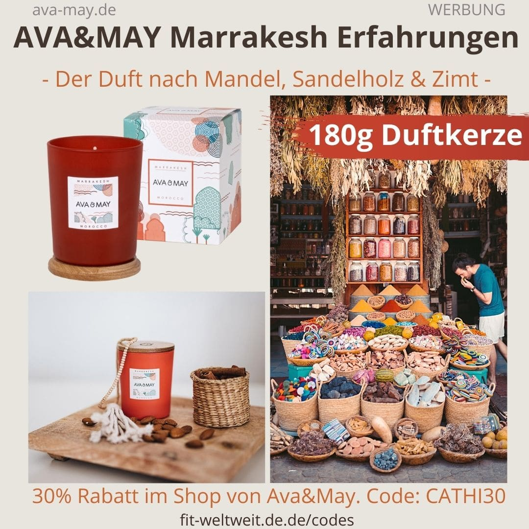 AVA and MAY Marrakesh 180g Duftkerze Morocco