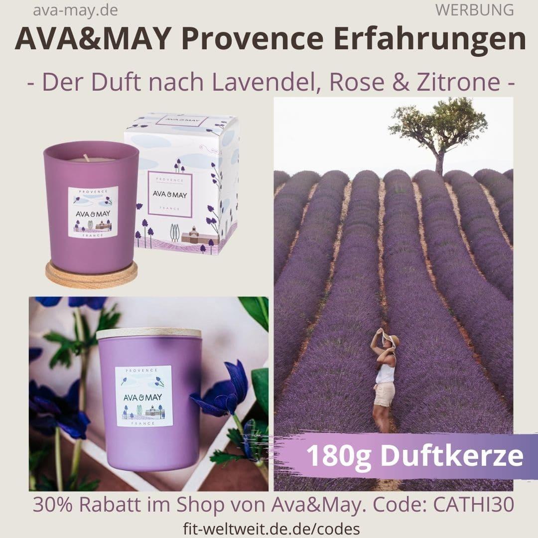AVA and MAY Provence 180g Duftkerze France