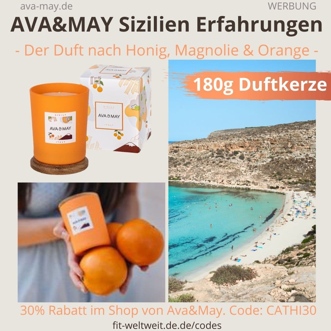 AVA and MAY Sizilien 180g Duftkerze Italien