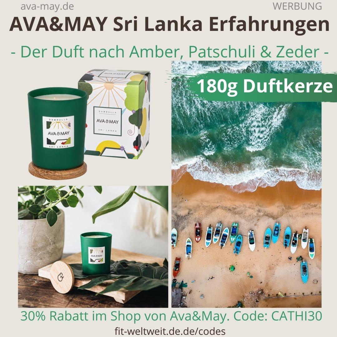 AVA and MAY Sri Lanka 180g Duftkerze Dambulla
