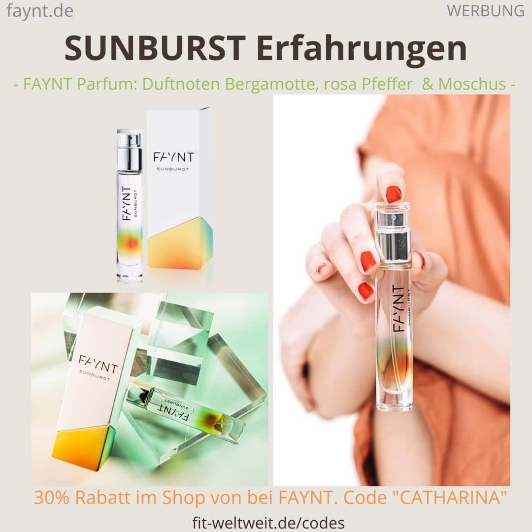 FAYNT SUNBURST ERFAHRUNGEN Parfum Duft Bewertung