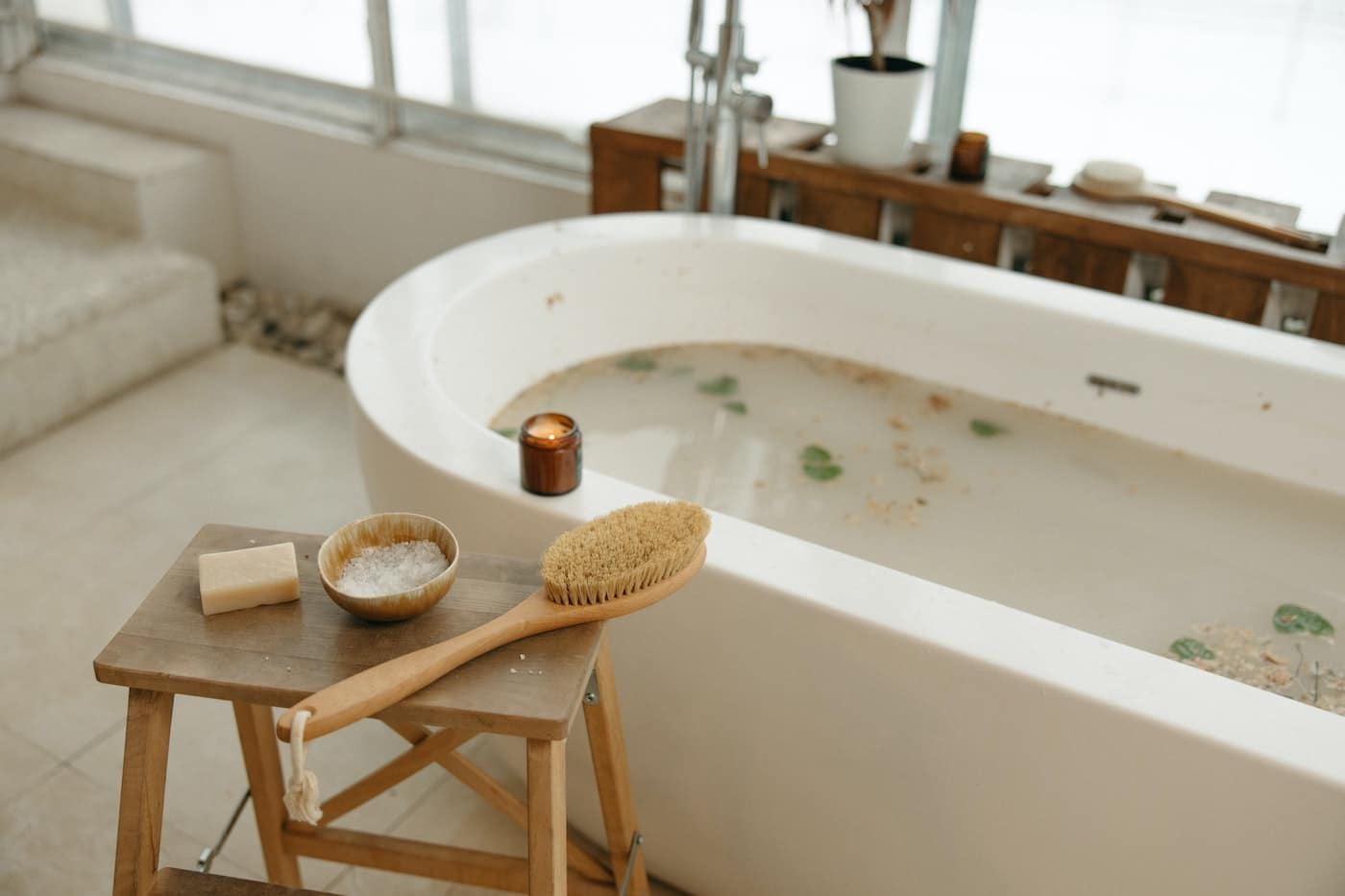 Körper Peeling Naturbürste Massage
