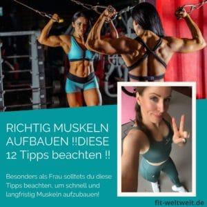 #Muskelaufbau #Frau #Fitnesstipps, die dichschnell zum Ziel bringen. Das richtige #Training. Dazu gibt es einen Trainingsplan mit den richtigen Übungen, Tipps zurWiederholung, derAnatomie, nützliche Supplements und die effektivste Ernährung - besonders für Frauen. #Muskelaufbau für Frauen mit #Trainingsplan für zuhause (Auch für Anfänger geeignet), Ernährungsplan (welches Essen). Alles auf dem Blog.