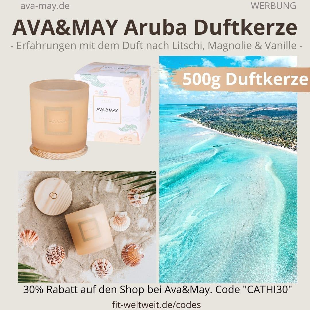 ARUBA Caribbean DUFTKERZE Ava and May Erfahrung 500g Turkey