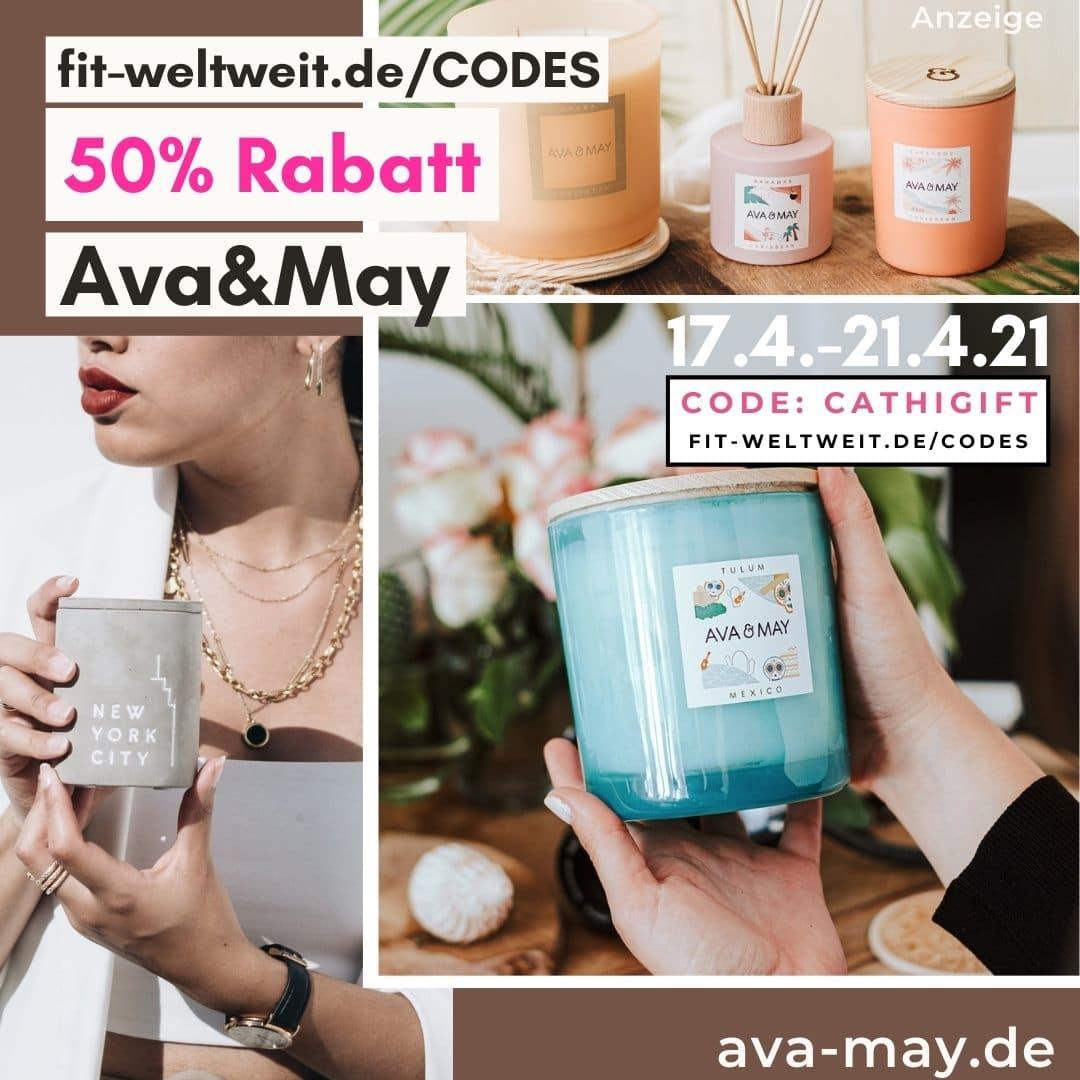 AVA and MAY 50% RABATTCODE 2021 April