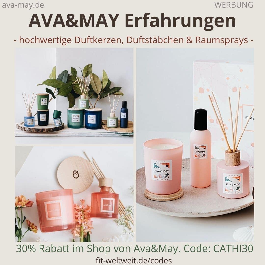 AVA and MAY Erfahrung Kerzen und Duftkerzen Bewertung Duftstäbchen + Rabattcode