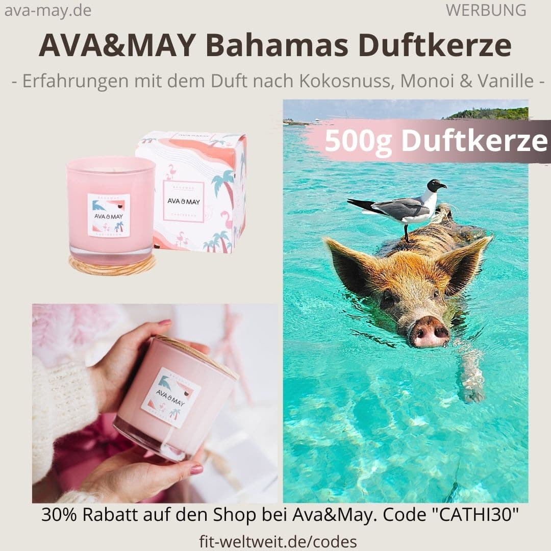 BAHAMAS Caribbean DUFTKERZE Ava and May Erfahrung 500g Turkey