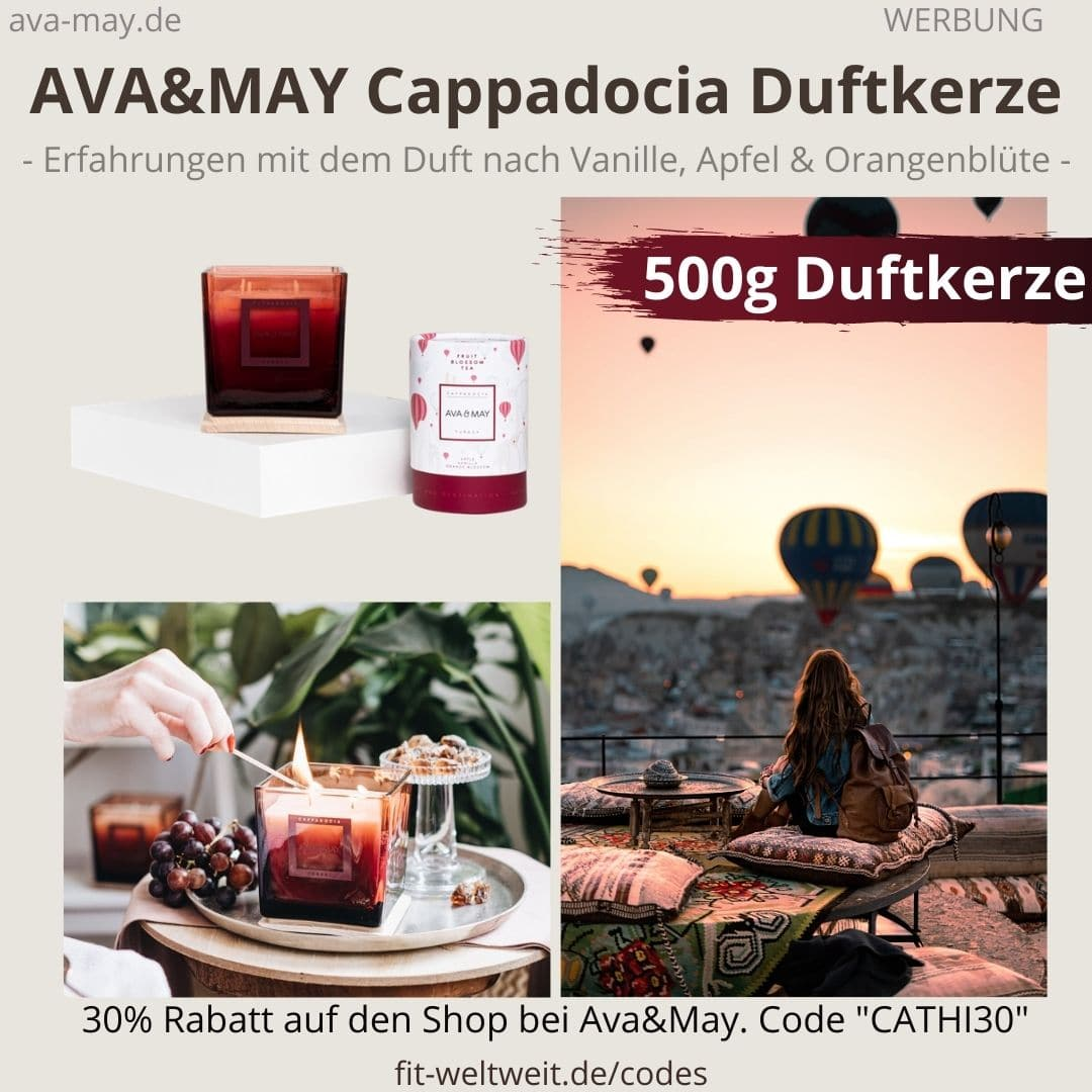 CAPPADOCIA DUFTKERZE Ava and May Erfahrung 500g Turkey