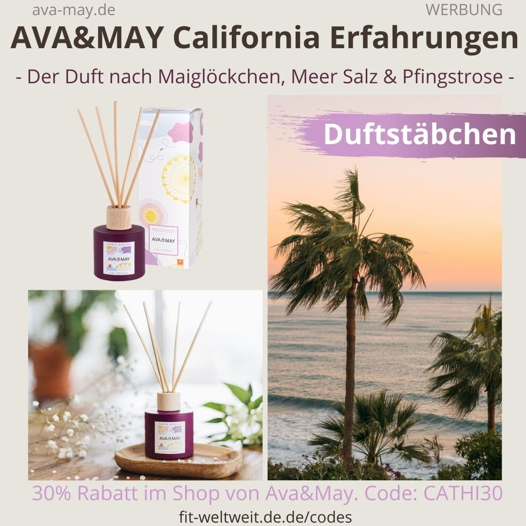 Erfahrungen AVA and MAY California 100ml Duftstäbchen Santa Monica