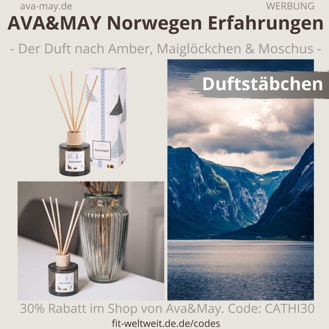 Erfahrungen AVA and MAY Norwegen 100ml Duftstäbchen Scandinavia