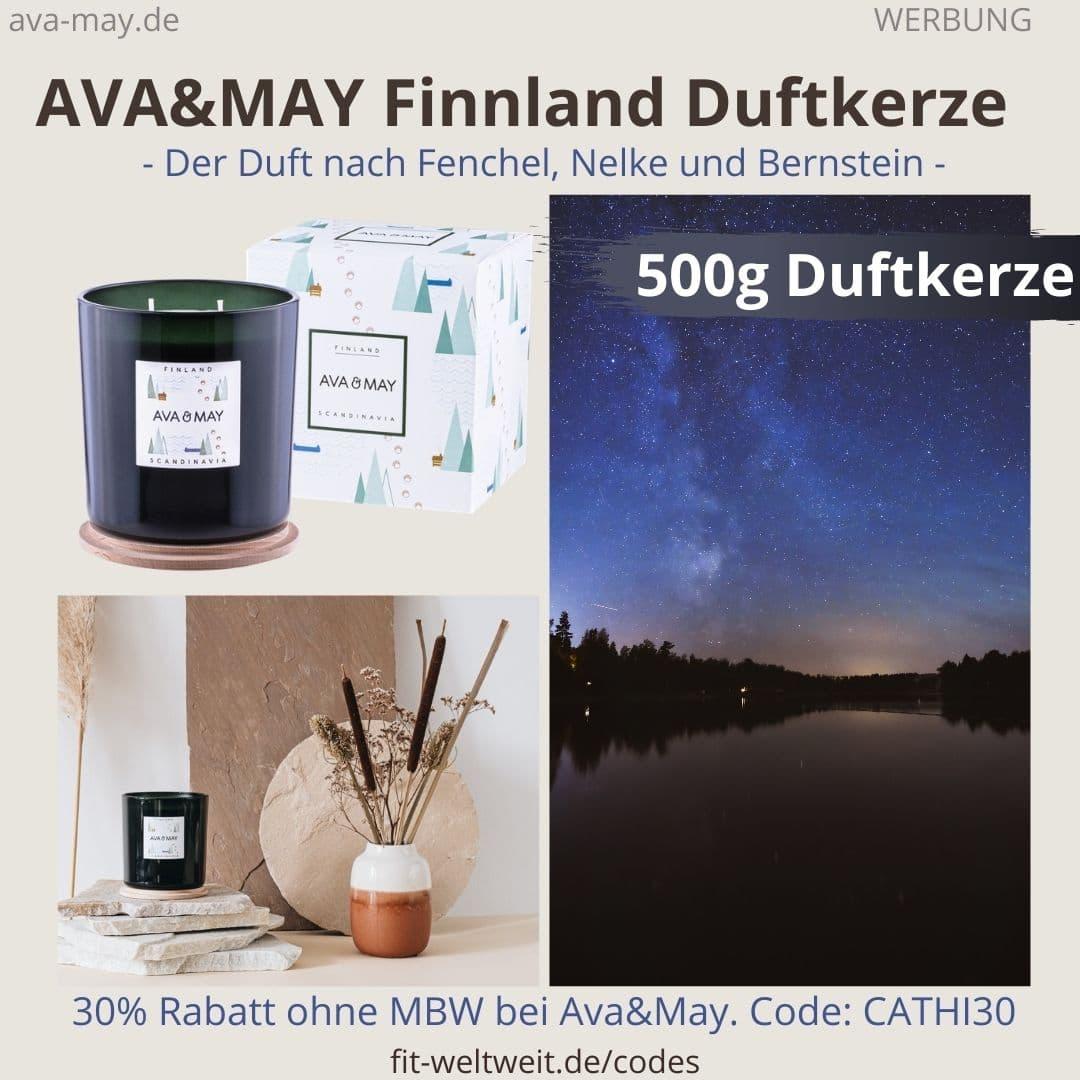 FINNLAND SCANDINAVIA AVA and MAY Erfahrung große 500g Duftkerze