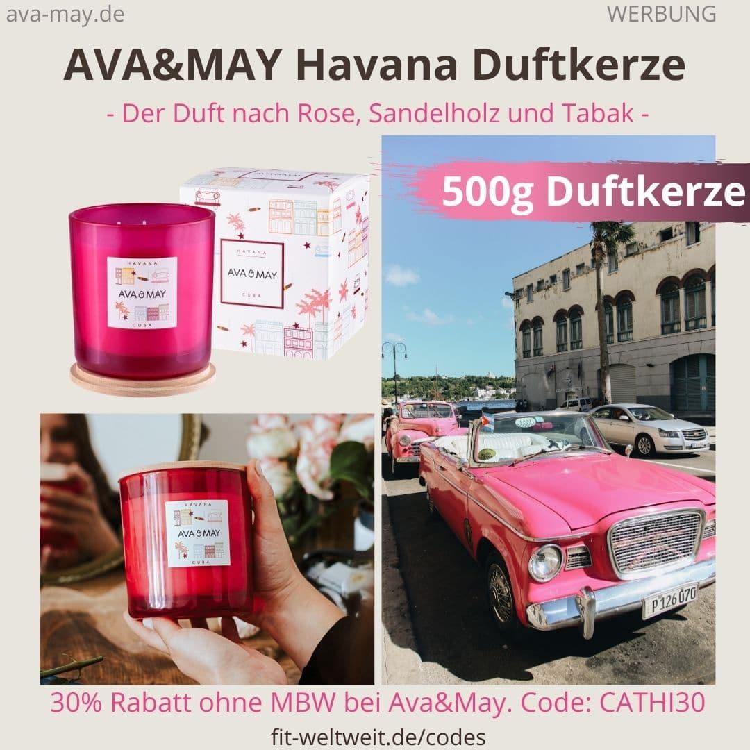 HAVANA CUBA AVA and MAY Erfahrung große 500g Duftkerze