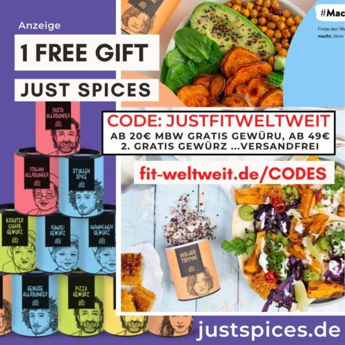 JUST SPICES CODE Juni 2021 Rabatt Gutschein free Gift