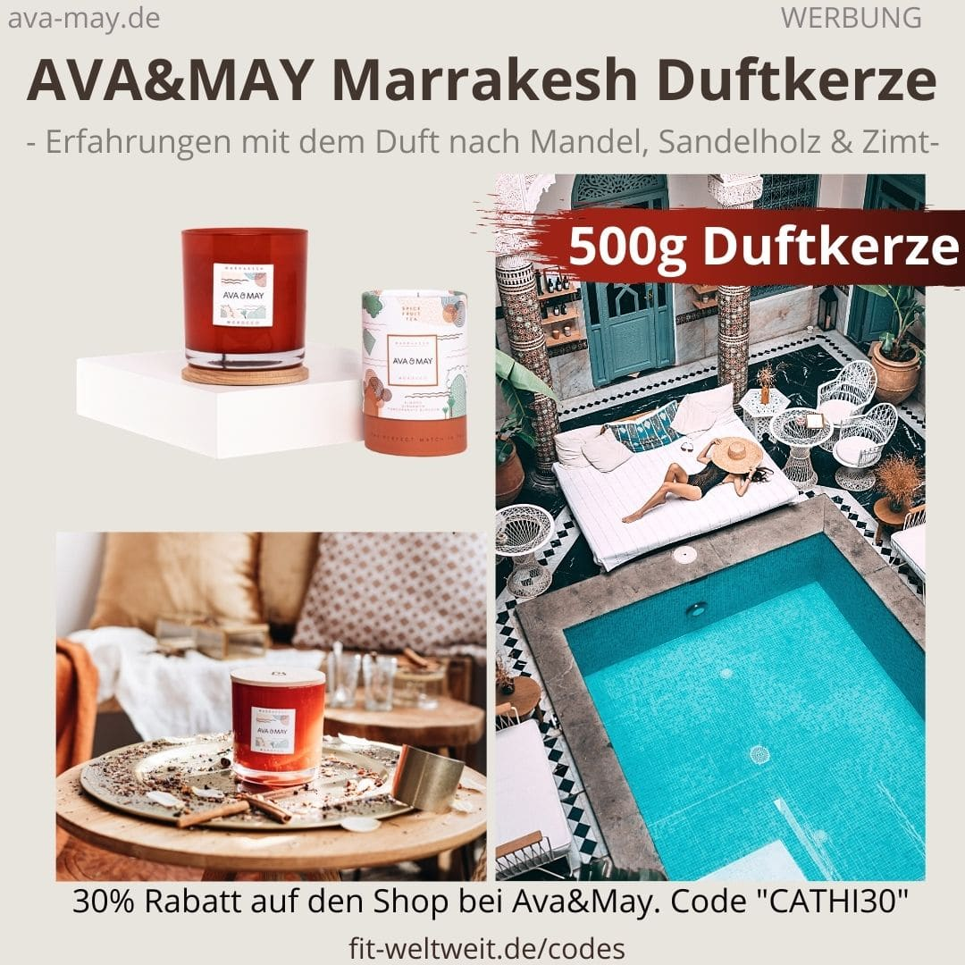 MARRAKESH DUFTKERZE Ava and May Erfahrung 500g Morocco
