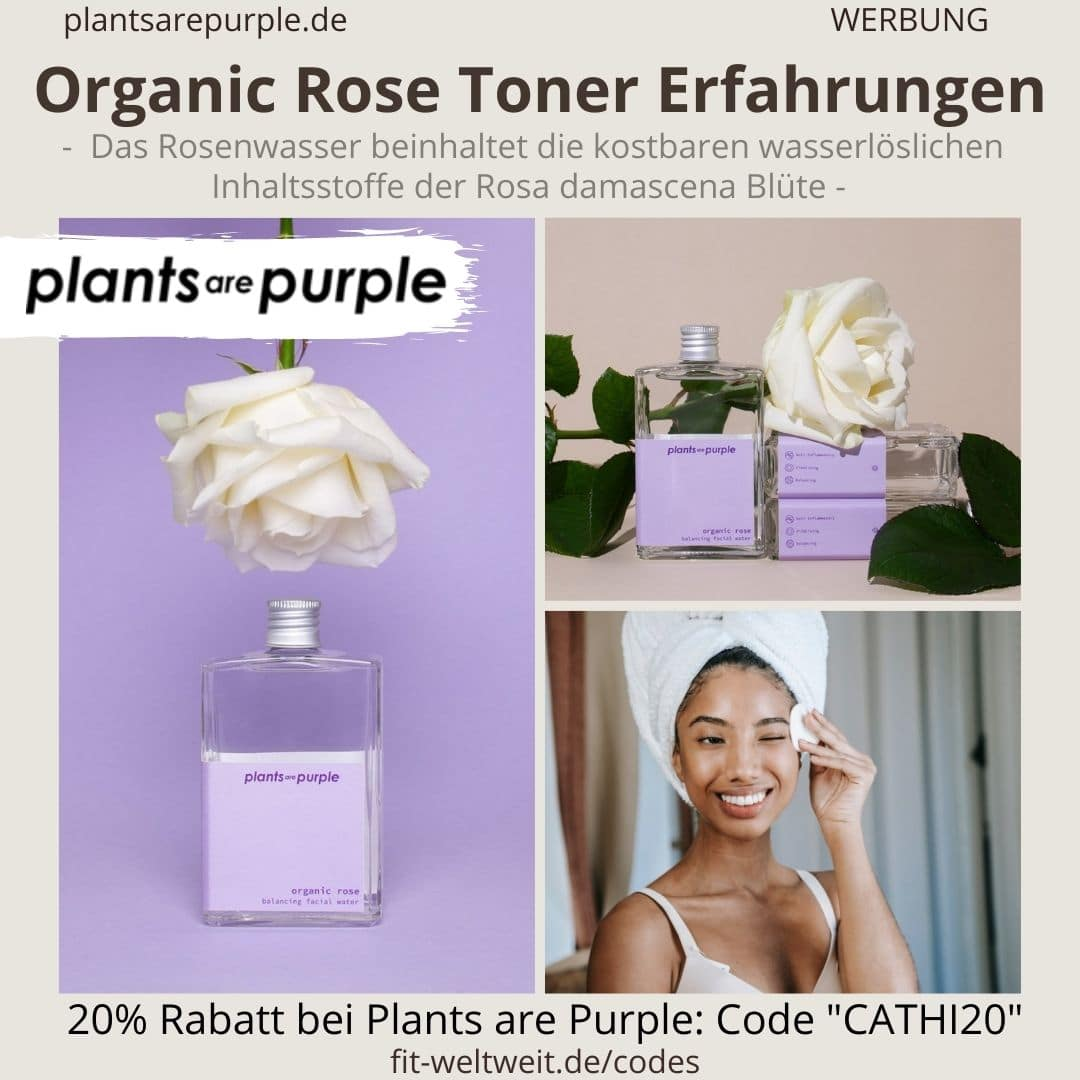 ORGANIC ROSE TONER Erfahrungen Plants are Purple Rosenwaaser