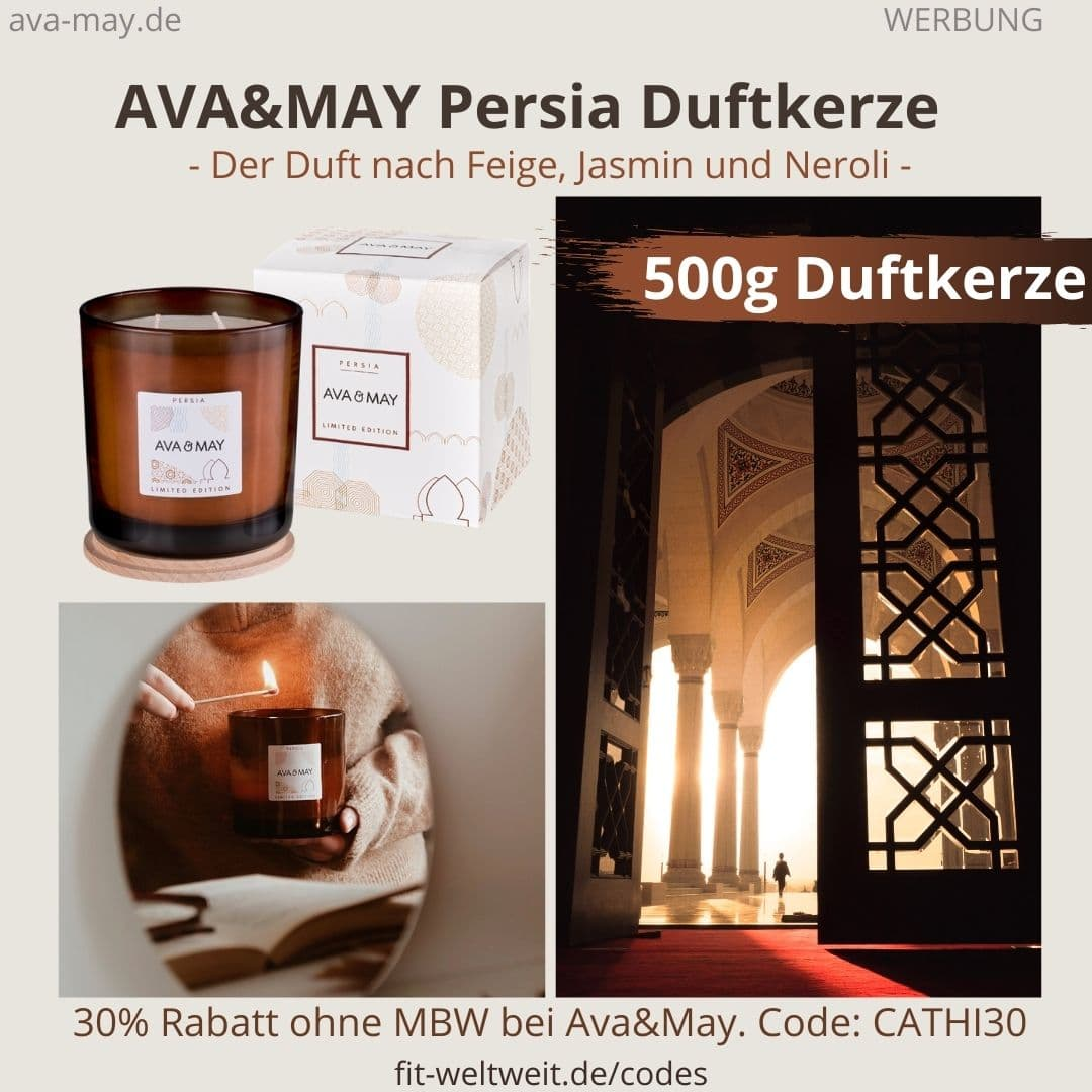 PERSIA LIMITED EDITION AVA and MAY Erfahrung große 500g Duftkerze