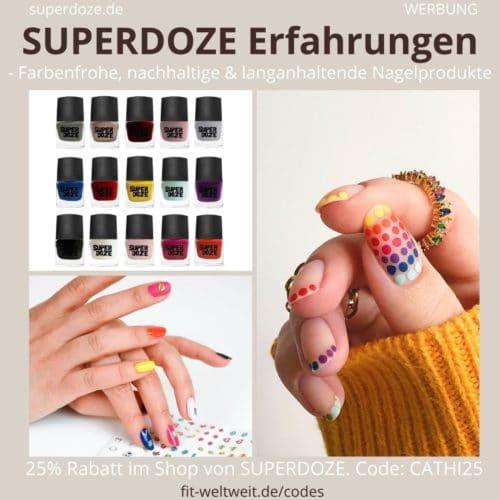 SUPERDOZE Nagelprodukte Erfahrungen Nagellack Schablonen Sticker im Test