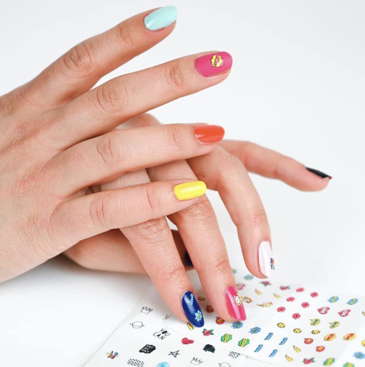 SUPERDOZE Schablonen Sticker Nail Art Yum!, No RuleZ, NoiZe, Ur'Fab Kween