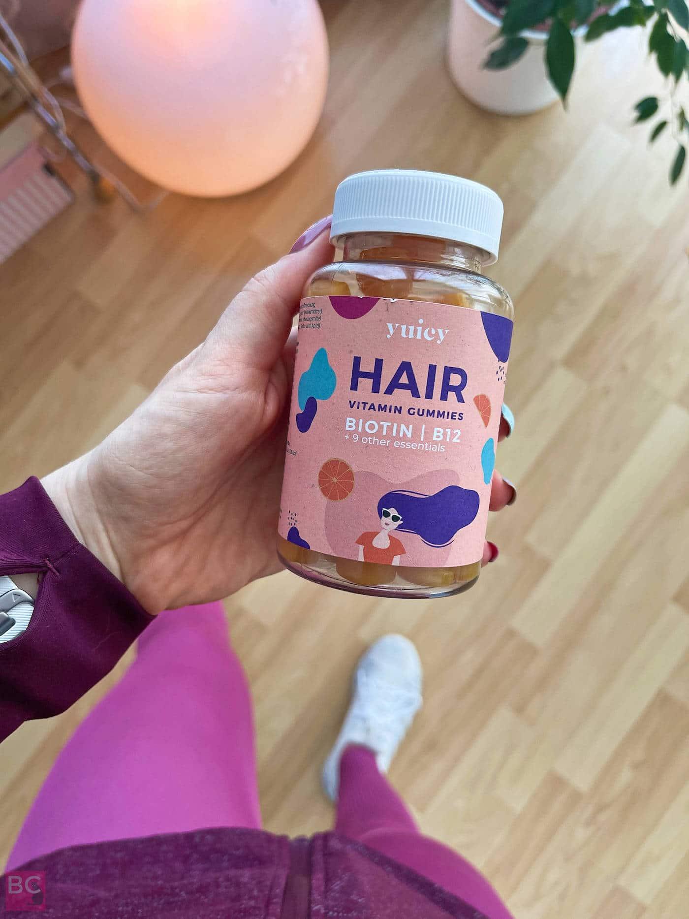 YUICY Erfahrungen Vitamingums Vitamingummies 90 Tage Hair Kur