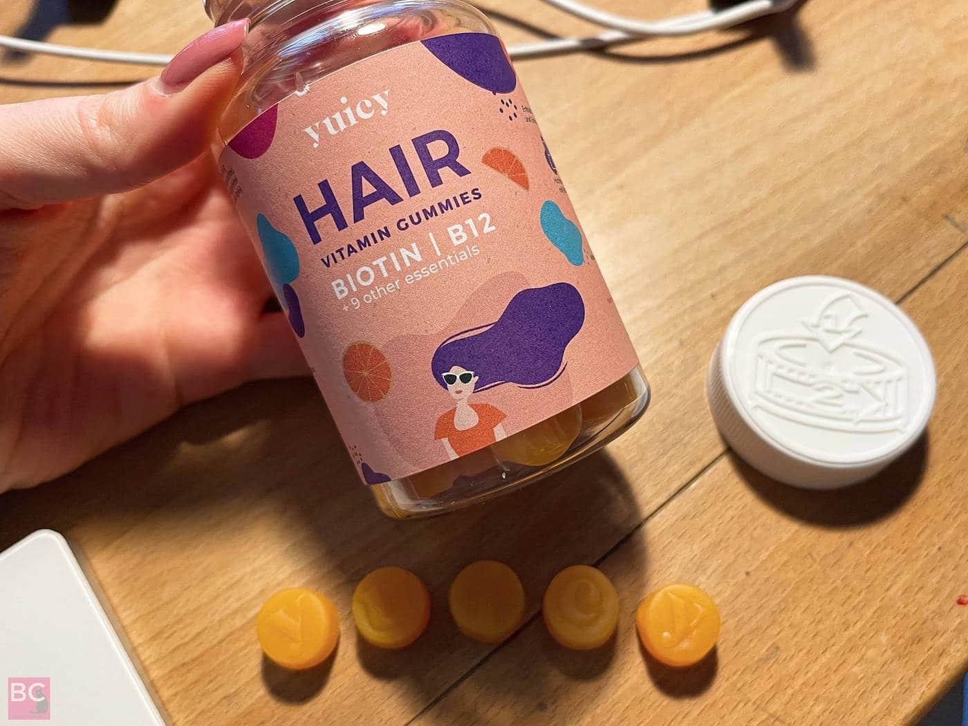 YUICY Vitamingums Erfahrungen Vitamingummies 90 Tage Hair Kur