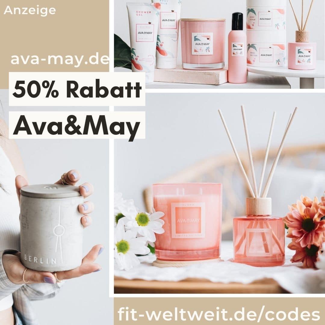 50% Rabatt AVA AND MAY Gutscheincode Mai 2021