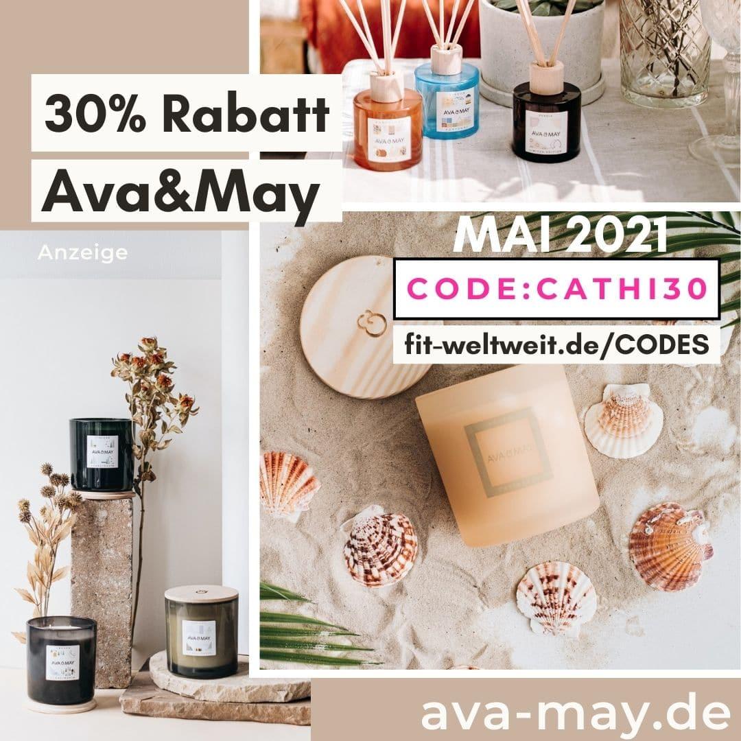 AVA and MAY 30% Gutscheincode bis 50% Rabatt Mai 2021