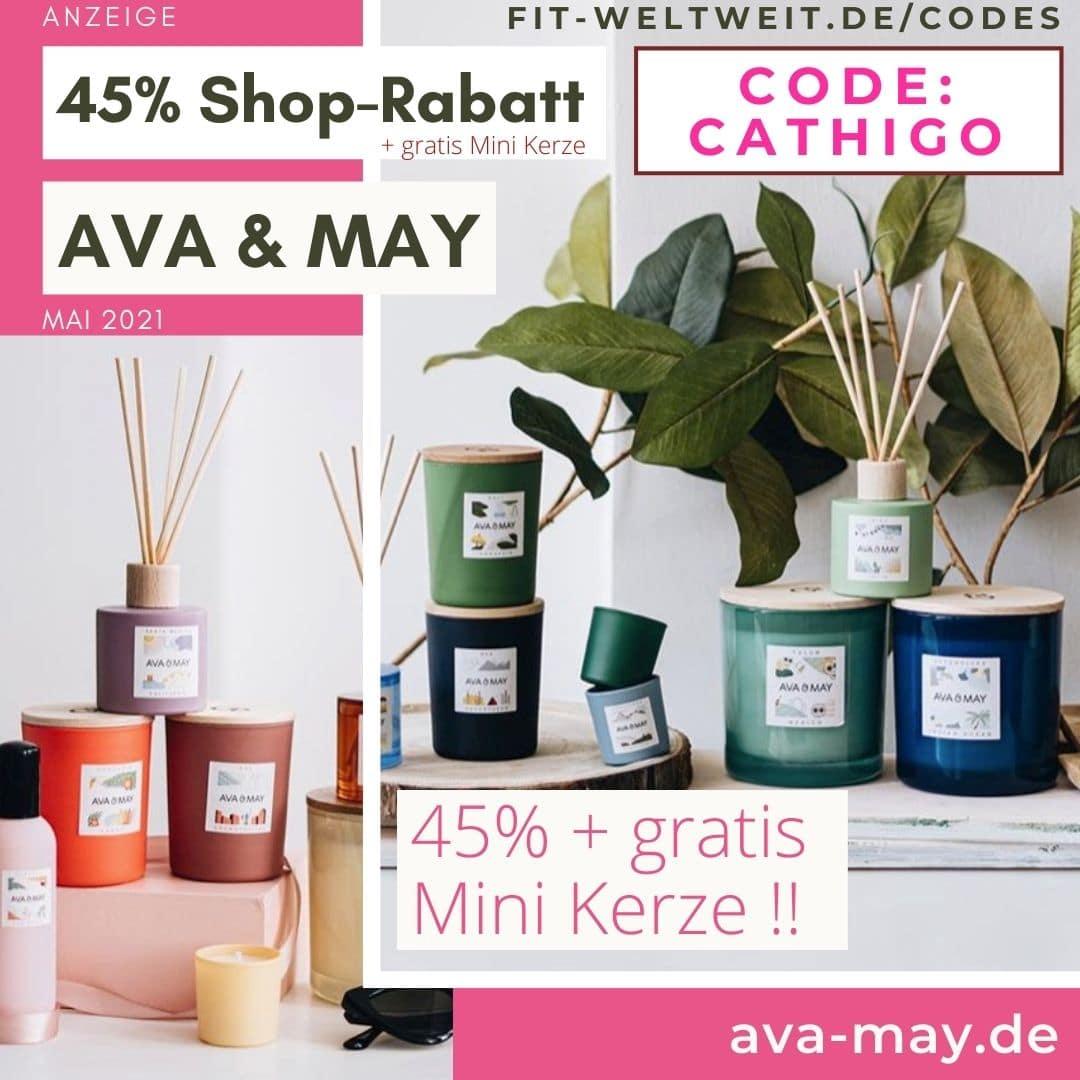 AVA and MAY 45% Rabatt + gratis Minikerze